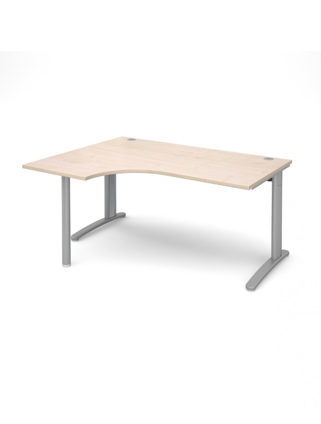 Maple Office Desk 1600mm Wide Dams TR10 Left Hand Ergonomic TBEL16M
