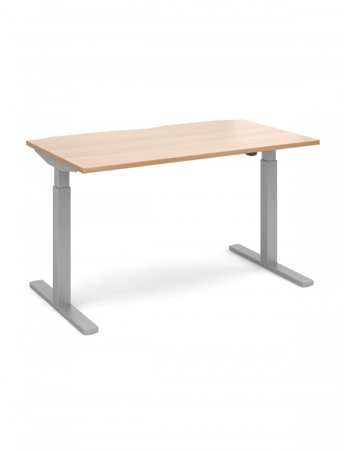 Office Desk 1400mm Elev8 Mono Sit Stand Desk EVM-1400-S-B