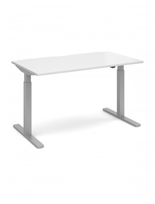 Office Desk 1400mm Elev8 Mono Sit Stand Desk EVM-1400-S-WH