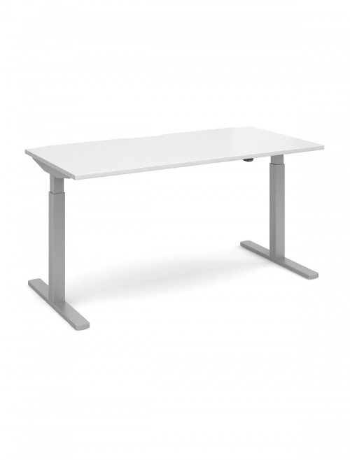 Office Desk 1600mm Elev8 Mono Sit Stand Desk EVM-1600-S-WH