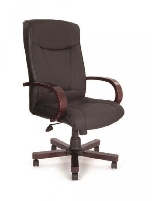 Office Chairs - Troon Exec Leather Office Chairs 4750ATG/LBK