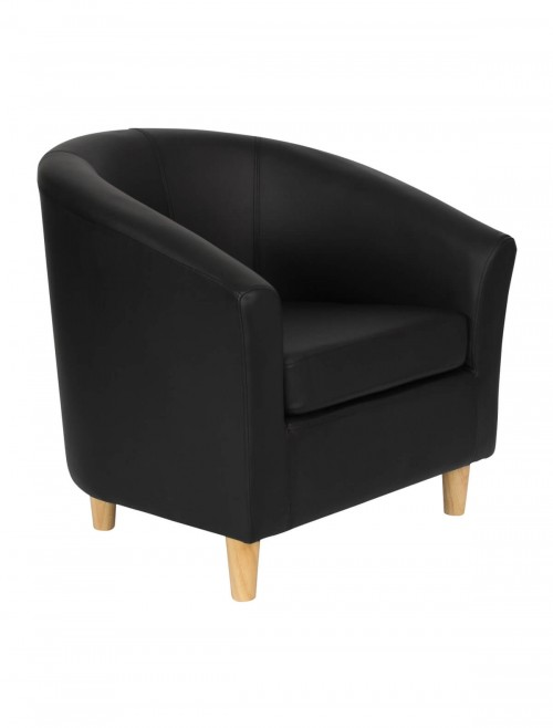 Armchair - PU Leather Tub Chair OF2201WL Reception Chairs