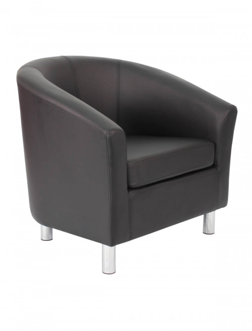 Armchair - PU Leather Tub Chair OF2201ML Reception Chairs