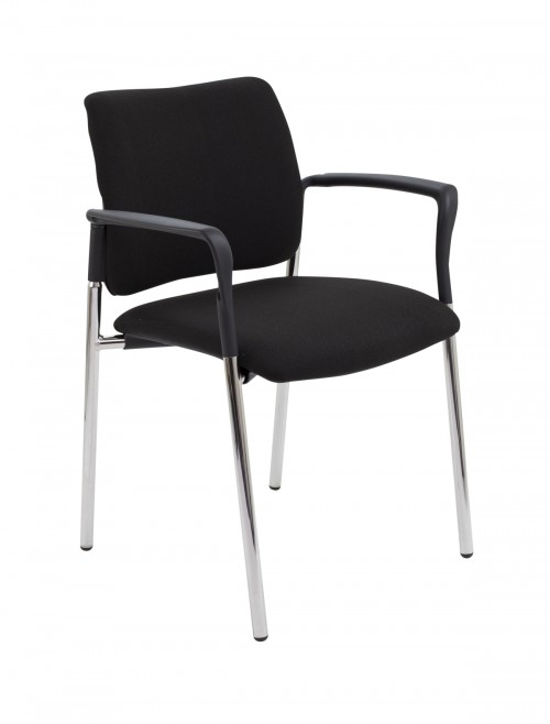 Meeting Chair - Florence Fabric Reception Chairs CH3509BK
