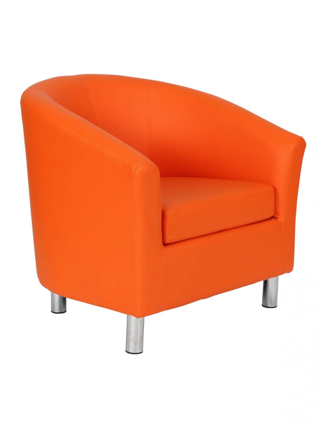 Armchair   PU Leather Tub Chair OF2201ML Reception Chairs   Enlarged View
