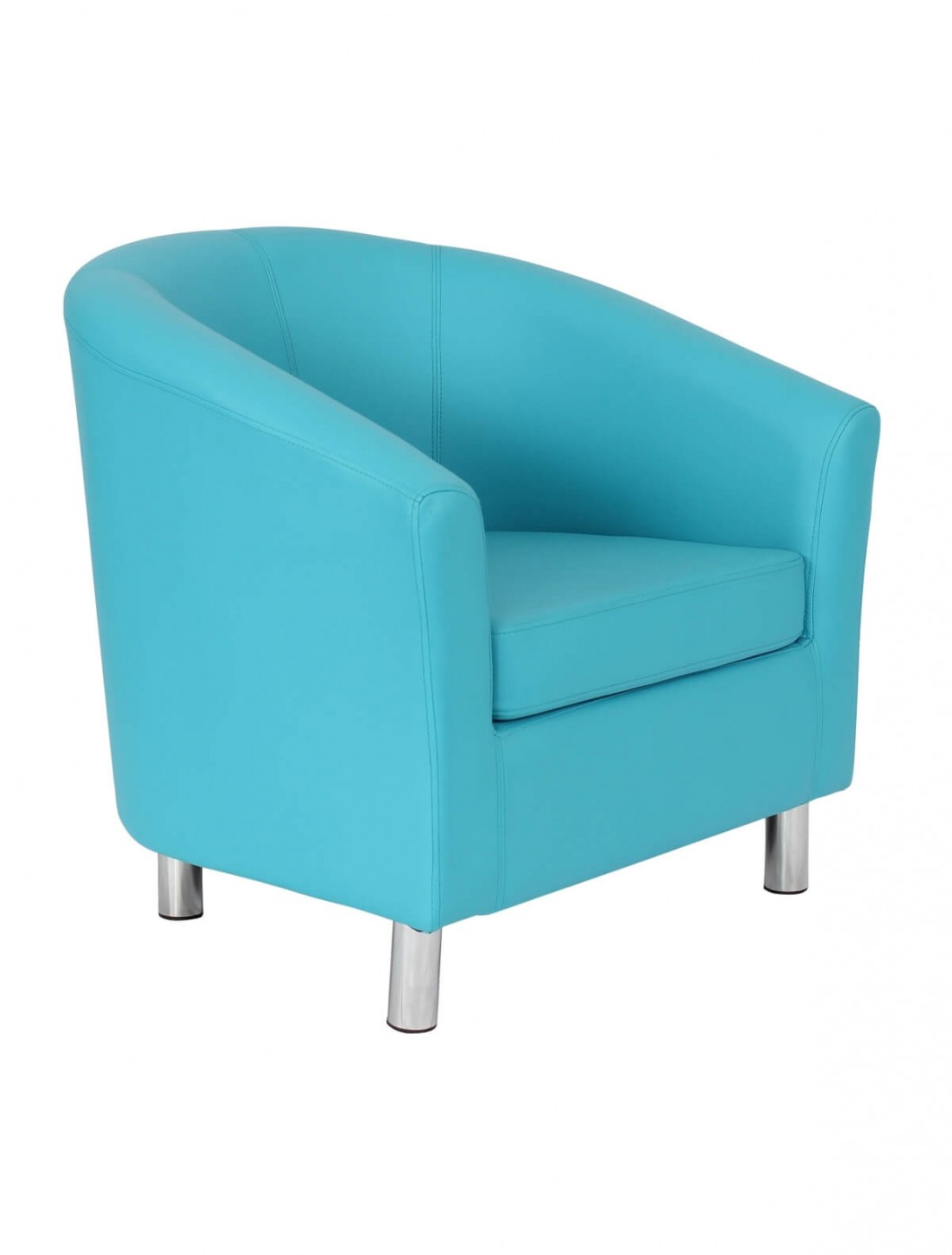 Armchair - PU Leather Tub Chair OF2201ML Reception Chairs ...