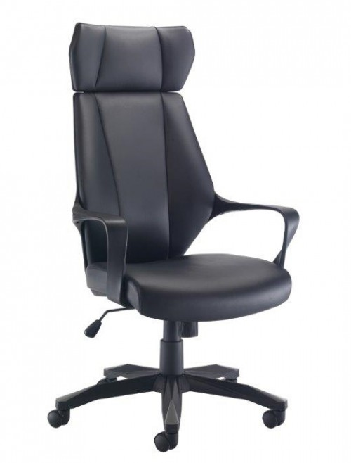 Office Chairs - Rocky PU Leather Office Chair CH0783BK