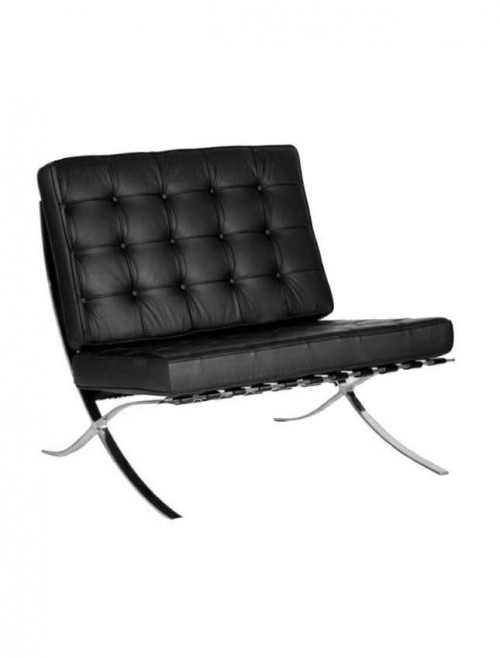Valencia Contemporary Leather Faced Reception Chair BSL/X100/BK