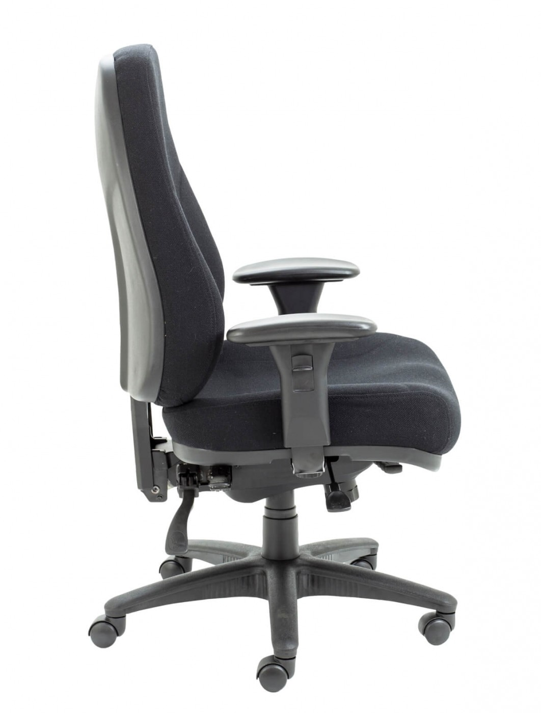 comfort office chair. Office Chairs - Panther 24 Hour Fabric Chair CH1108BK Enlarged View Comfort