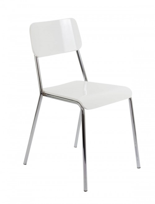 Meeting Chair - Reef Bistro Chairs CH0671WH Bistro Chair