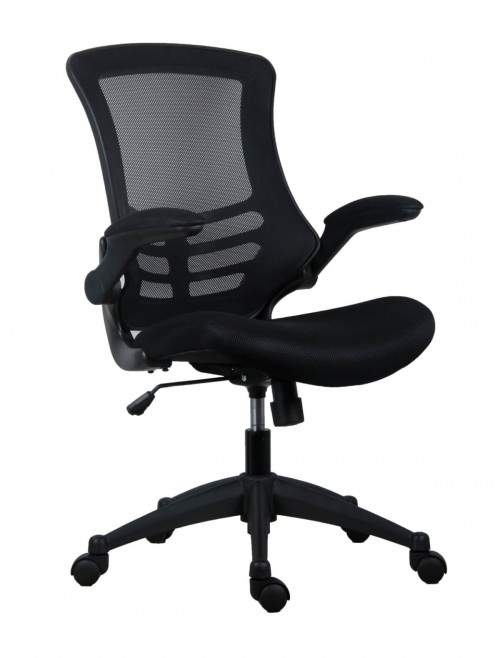 Office Chairs - Marlos Mesh Office Chair in Black CH0790BK