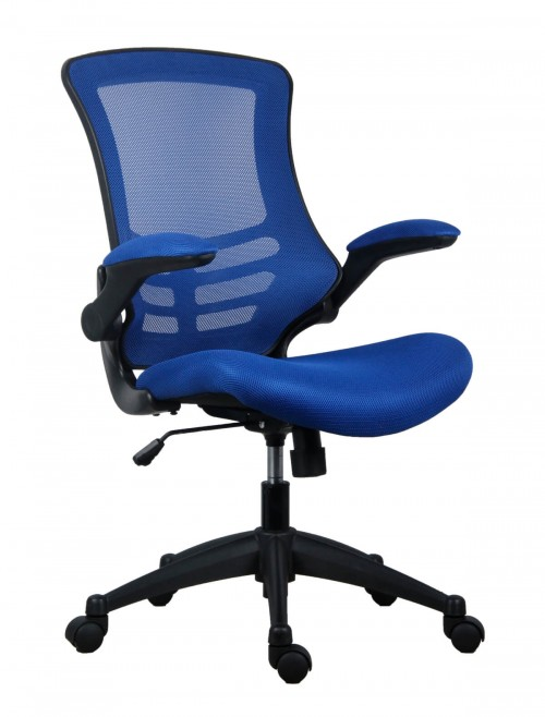 Office Chairs - Marlos Mesh Office Chair in Blue CH0790BL