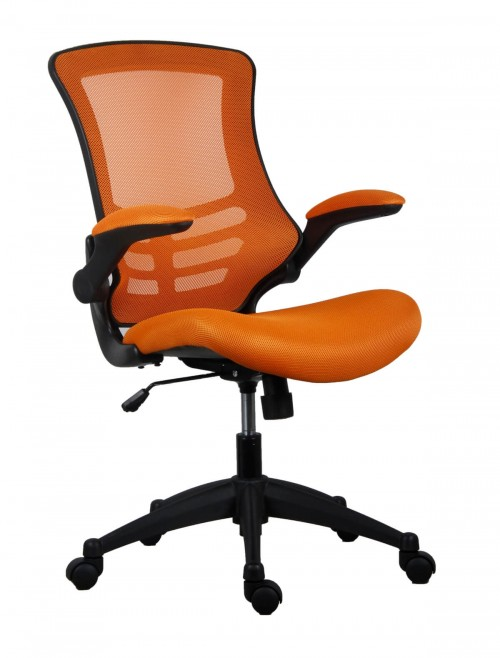 Office Chairs - Marlos Mesh Office Chair in Orange CH0790OR