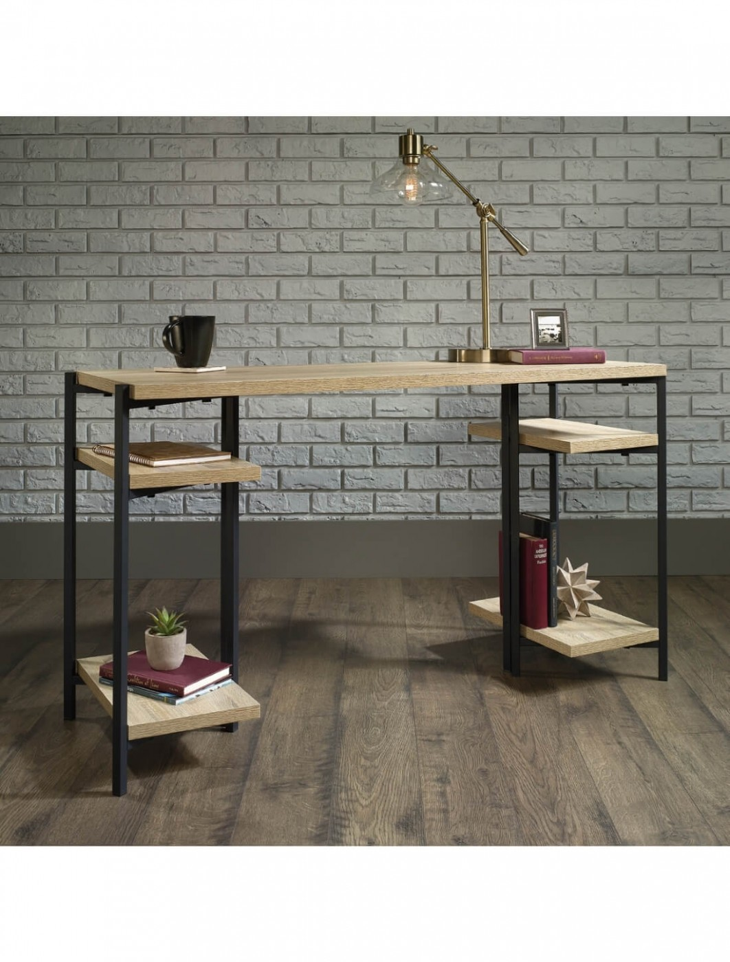 industrial style office desk. Home Office Desks - Teknik Industrial Style Chunky Bench Desk 5422097 Enlarged View I