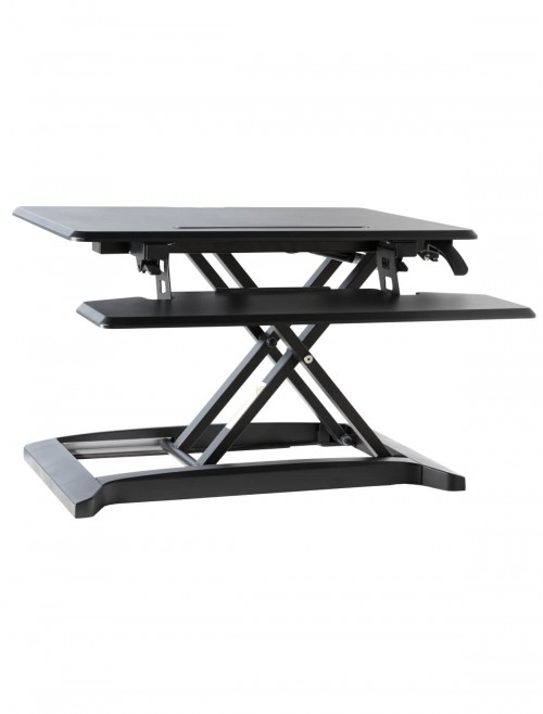 Office Desks - Height Adjustable Desk Riser AW9100-BLK