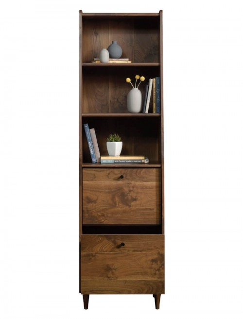 Home Office - Hampstead Park Narrow Walnut Bookcase 5420283