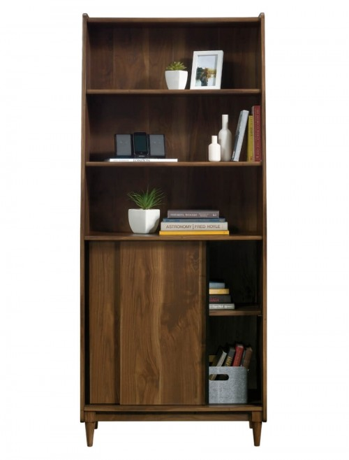 Home Office - Hampstead Park Wide Walnut Bookcase 5420282