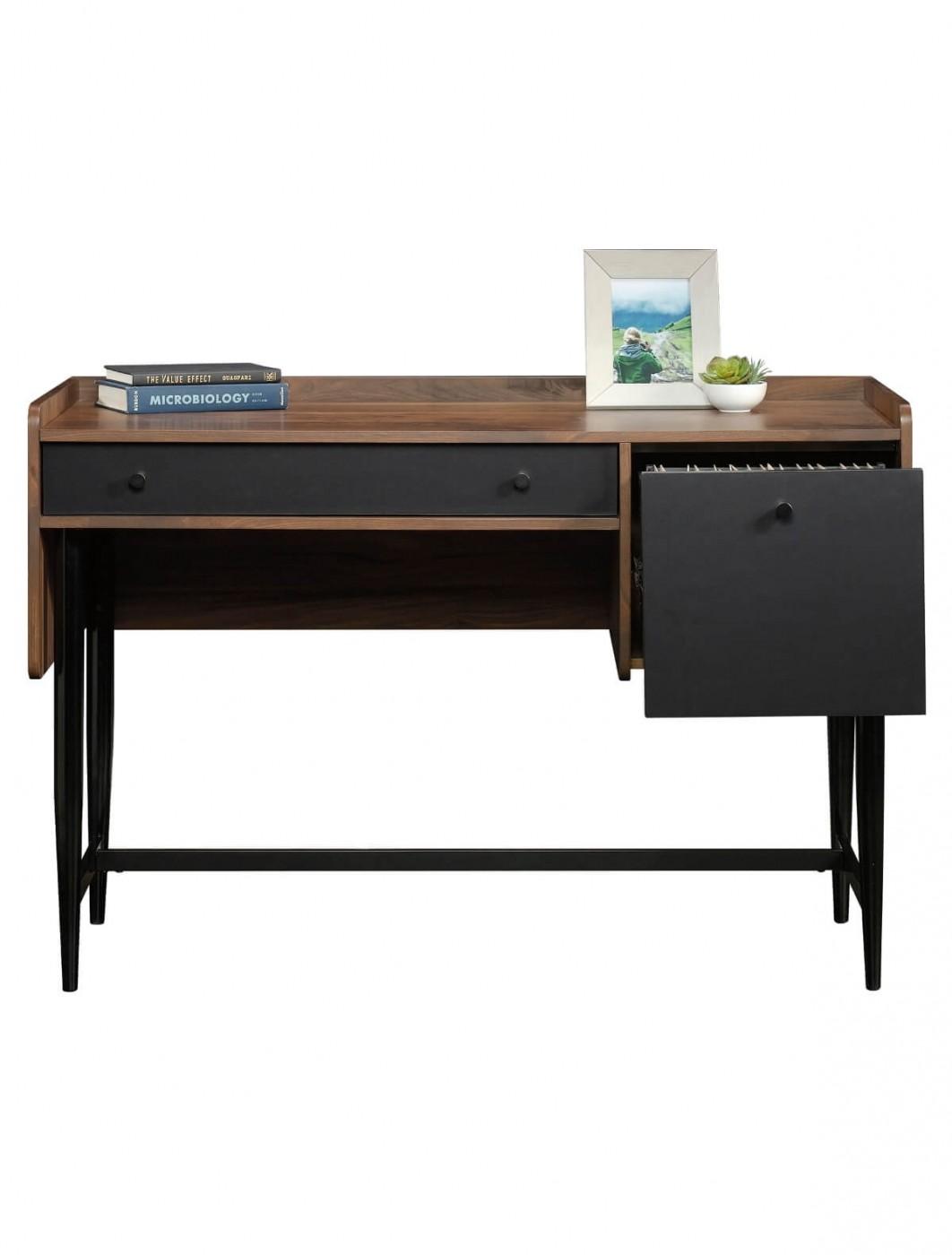 Image of: Office Desk Walnut For Stillo Walnut And Grey Large Computer Office Desk 004625x