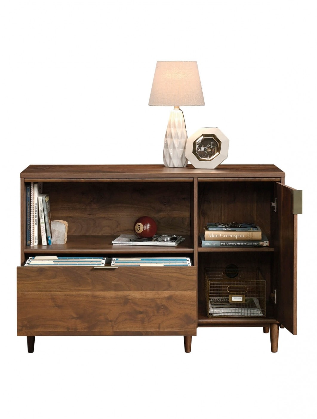 Home Office Storage   Clifton Place Walnut Credenza 5421317   Enlarged View