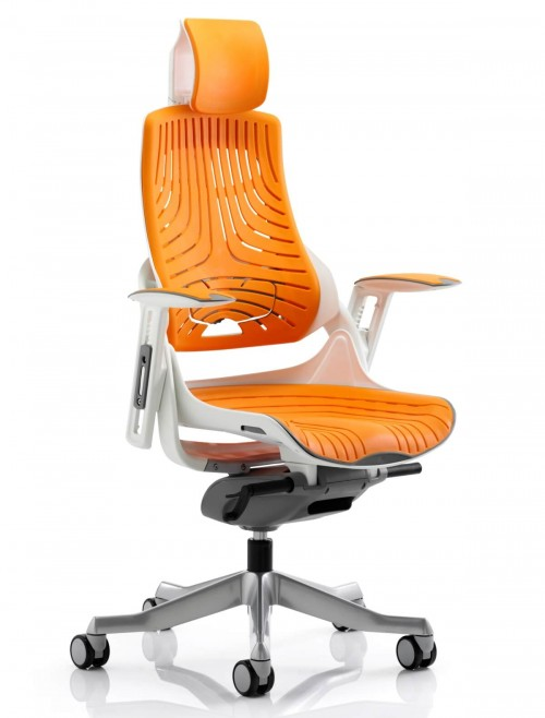 Zure Orange Executive Elastomer Office Chair w/ Headrest KC0165