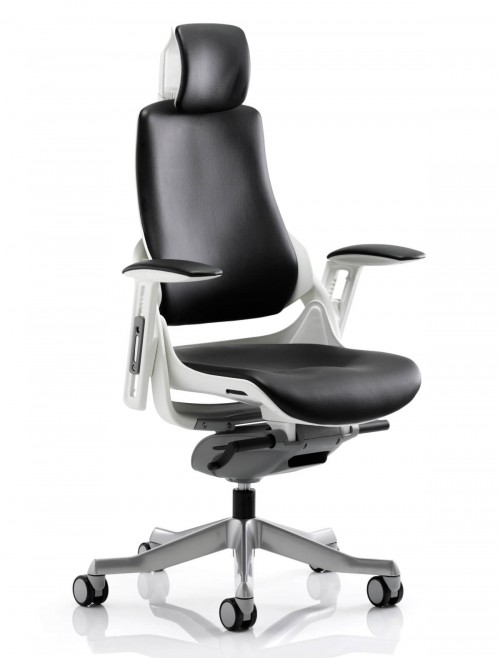 Zure Executive Bonded Leather Office Chair with Headrest KC0166
