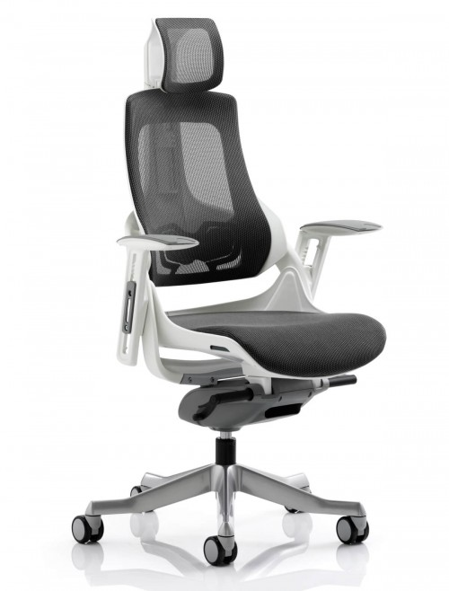 Zure Charcoal Executive Mesh Office Chair w/ Headrest KC0162