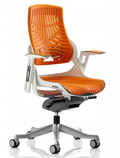 Office Chairs - Zure Orange Executive Elastomer Office Chair EX000133