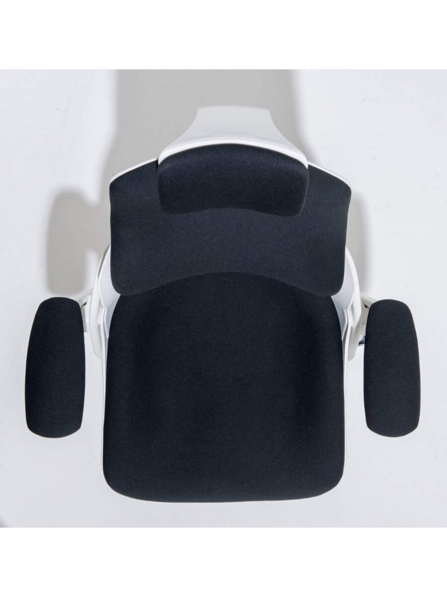 Zure executive fabric office chair with headrest kc0161 enlarged view