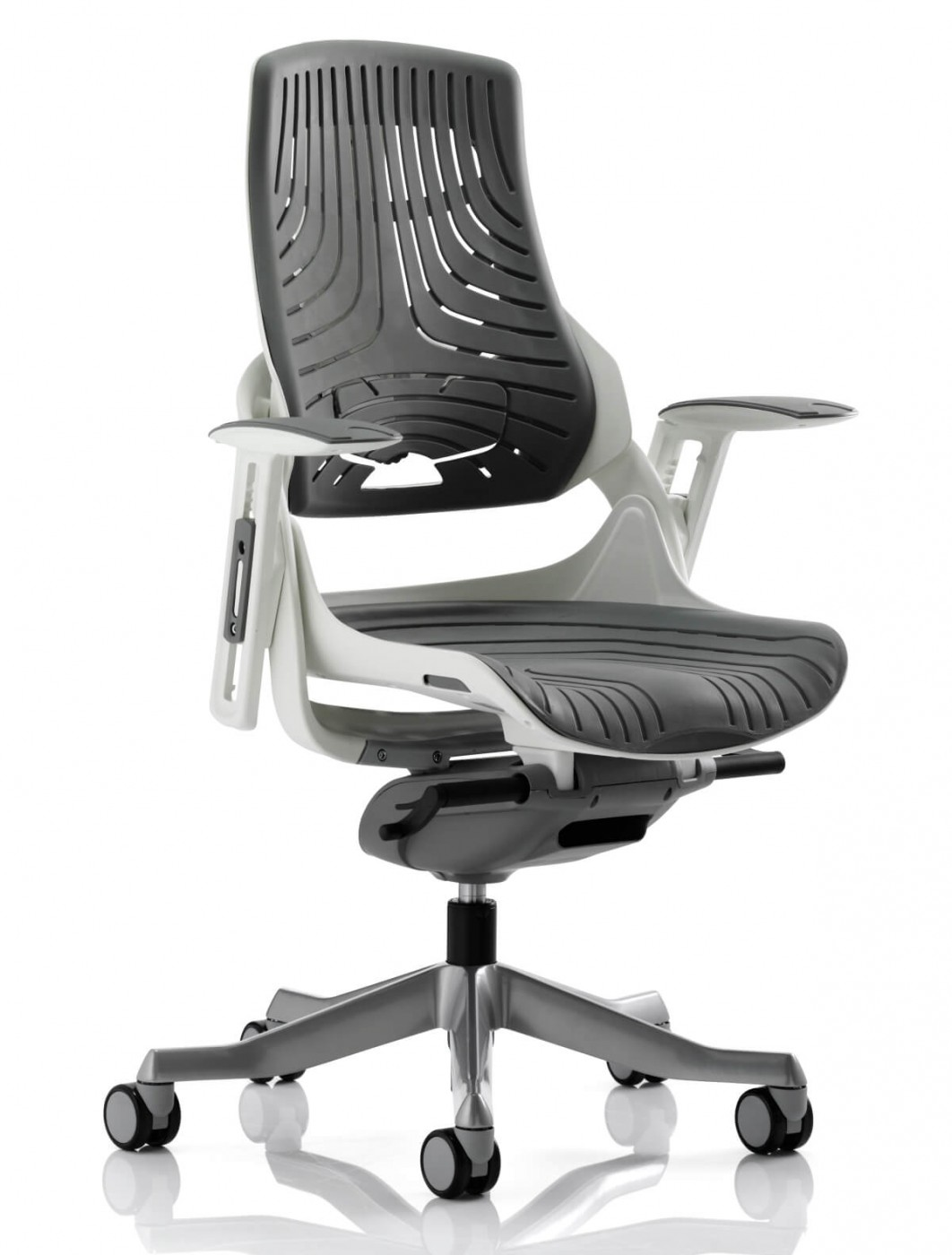 Office Chairs - Zure Grey Executive Elastomer Office Chair EX000112