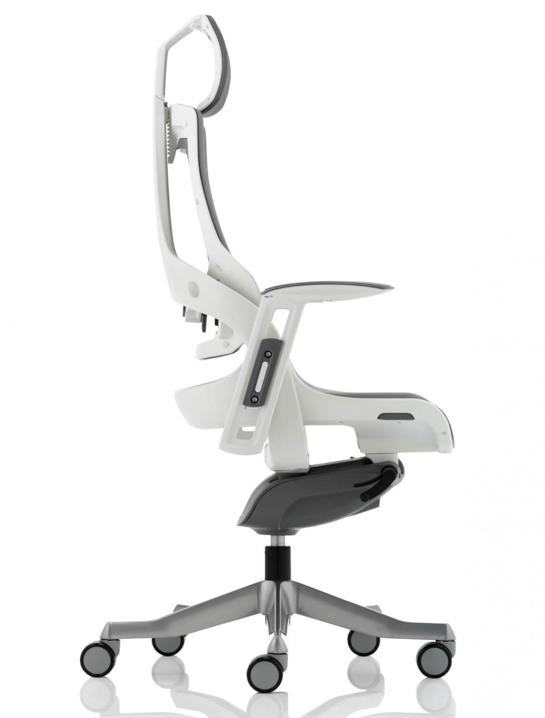 Zure Grey Executive Elastomer Office Chair w/ Headrest KC0164