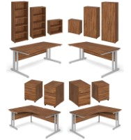 Aspire Walnut Furniture Range