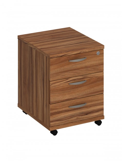 Walnut Mobile Pedestal 3 Drawer Aspire Pedestal ET/MOBPED3/WN