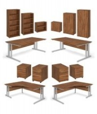 Aspire Walnut Office Desks