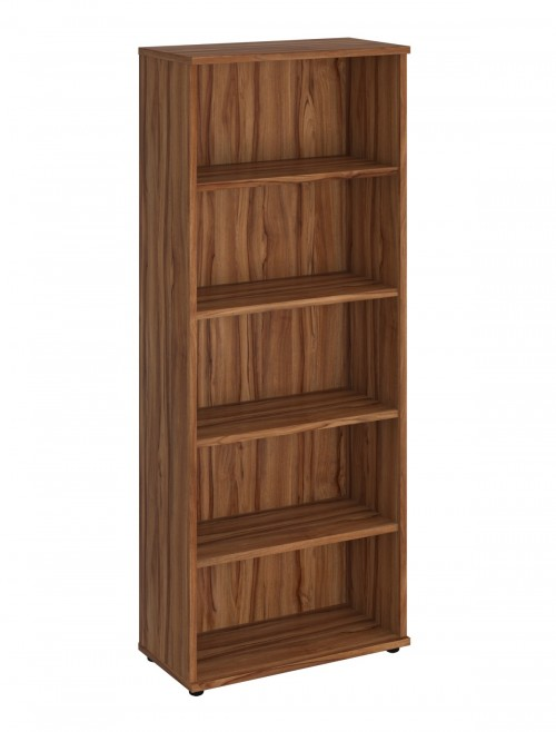 Walnut Office Bookcase 2000mm High Aspire Bookcase ET/BC/2000/WN