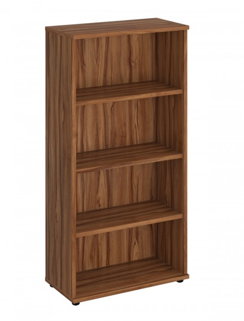 Walnut Office Bookcase 1600mm High Aspire Bookcase ET/BC/1600/WN