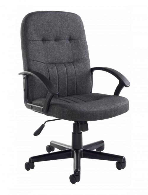 Office Chairs - Cavalier Charcoal Fabric Office Chair CAV300T1-C