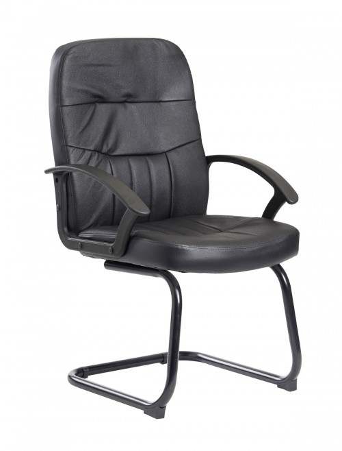 Office Chairs - Cavalier Leather Faced Visitor Chair CAV100C1