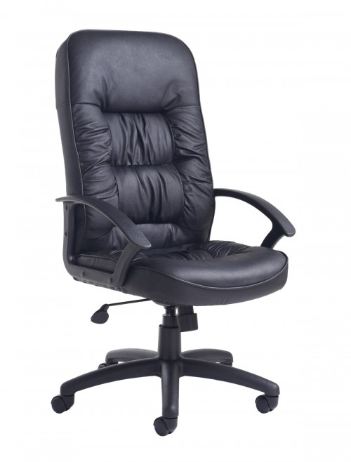 Office Chairs - King Leather Faced Managers Chair KNG300T1