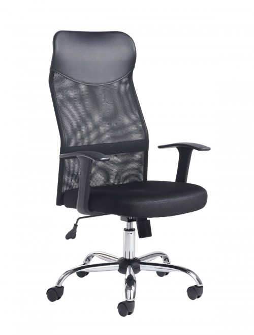 Office Chairs - Dams Aurora High Back Mesh Office Chair AUR300T1-K