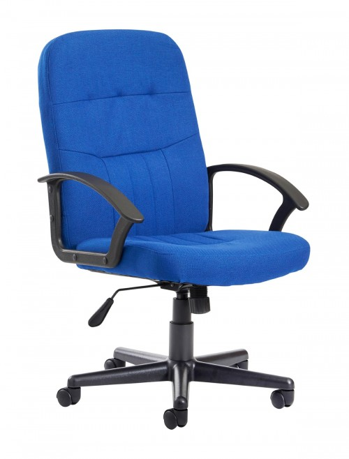 Office Chairs - Cavalier Blue Fabric Office Chair CAV300T1-B