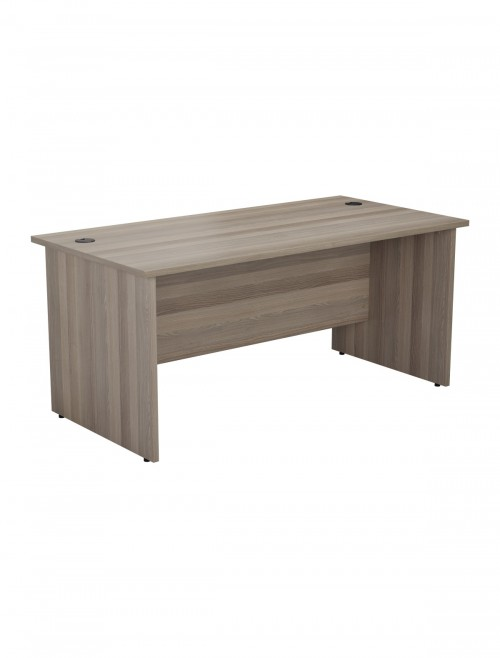 Grey Oak Office Desk 1400x800mm TC One Panel Desk OPR1480PGO