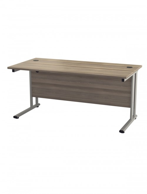 Grey Oak Office Desk 1600x800mm TC Lite Desk TWU1680RECGO