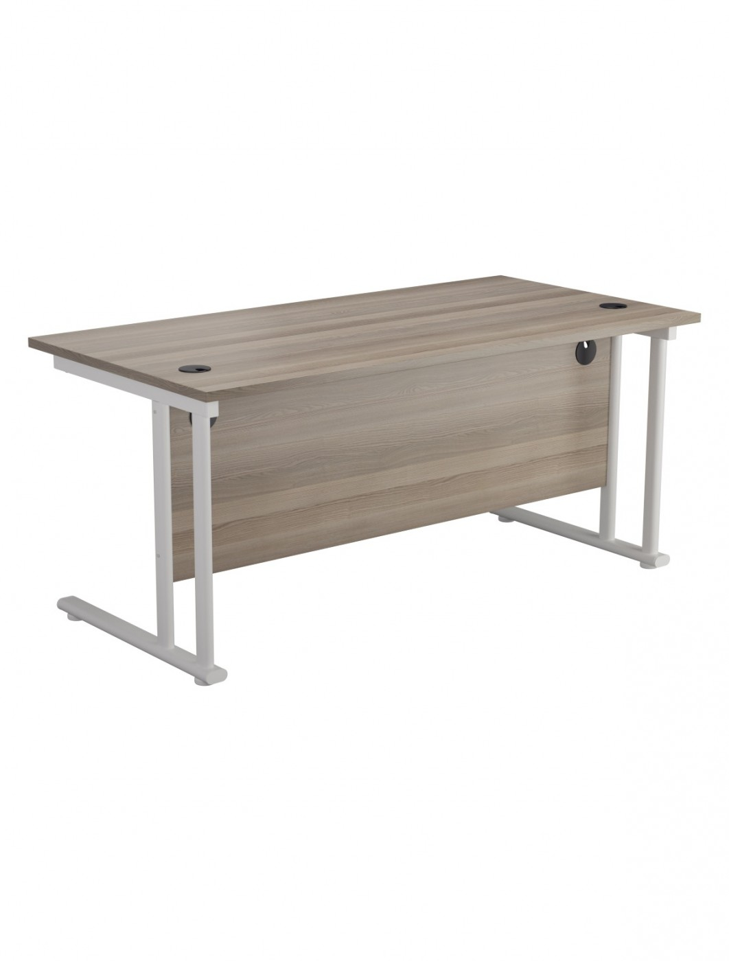 Grey Oak Office Desk 1200x800mm TC Lite Desk OST1280RECCLGO