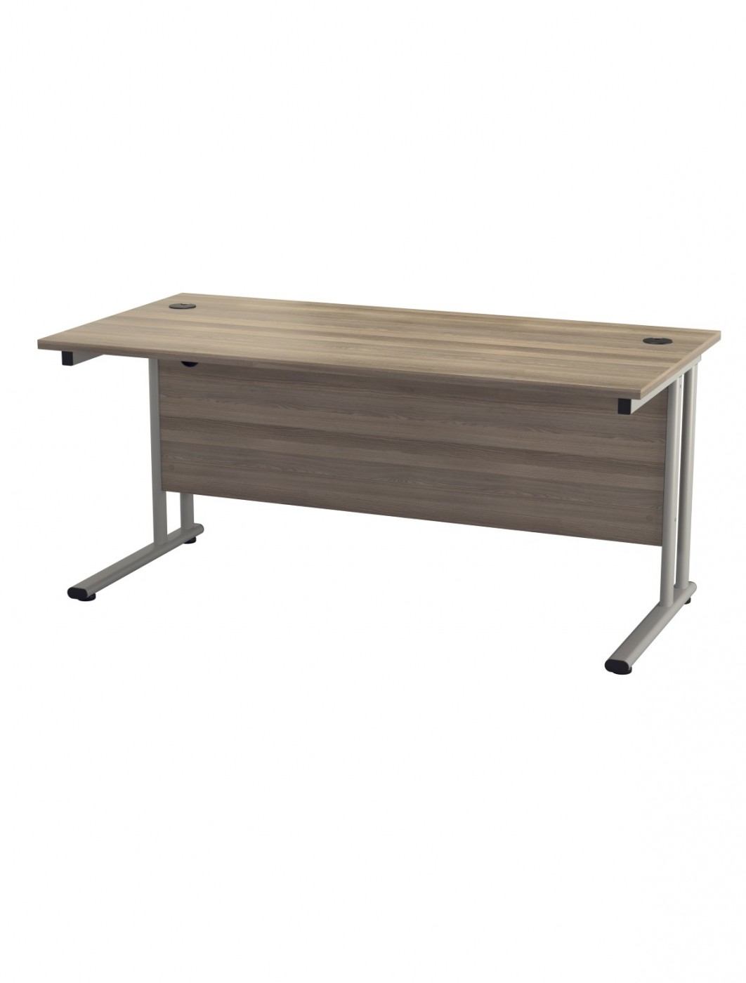 Grey Oak Office Desk 1200x800mm TC Lite Desk TWU1280RECGO