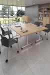 White Table - Flip Top Meeting Table 1200mm FLP12-S-WH - enlarged view