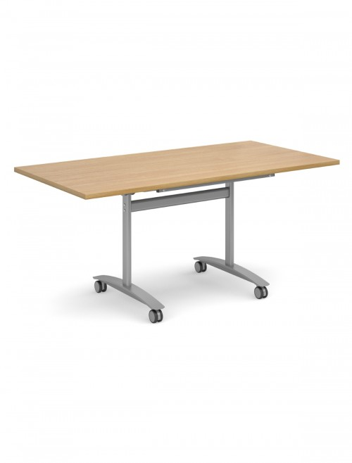 Oak Table - Deluxe Flip Top Meeting Table 1600mm DFLP16-S-O