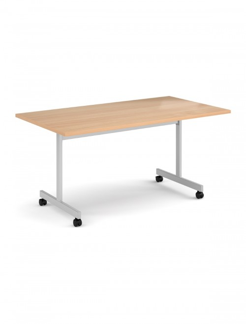 Beech Table - Flip Top Meeting Table 1600mm FLP16-S-B