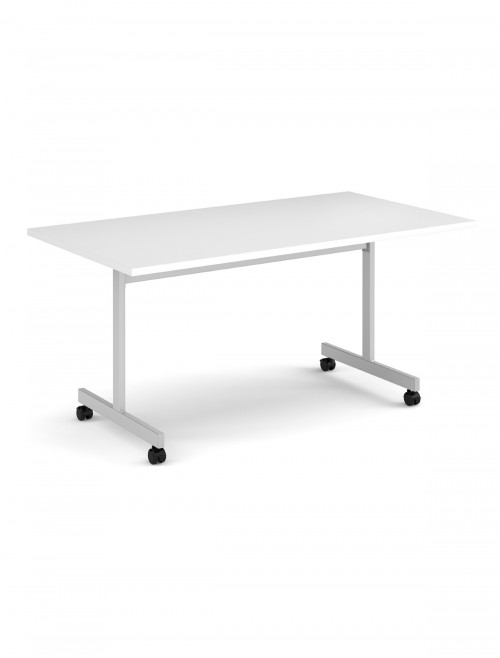 White Table - Flip Top Meeting Table 1400mm FLP14-S-WH