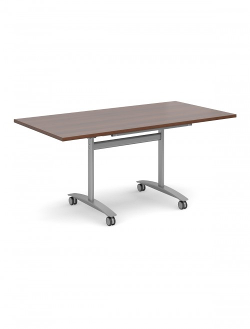 Walnut Table - Deluxe Flip Top Meeting Table 1600mm DFLP16-S-W