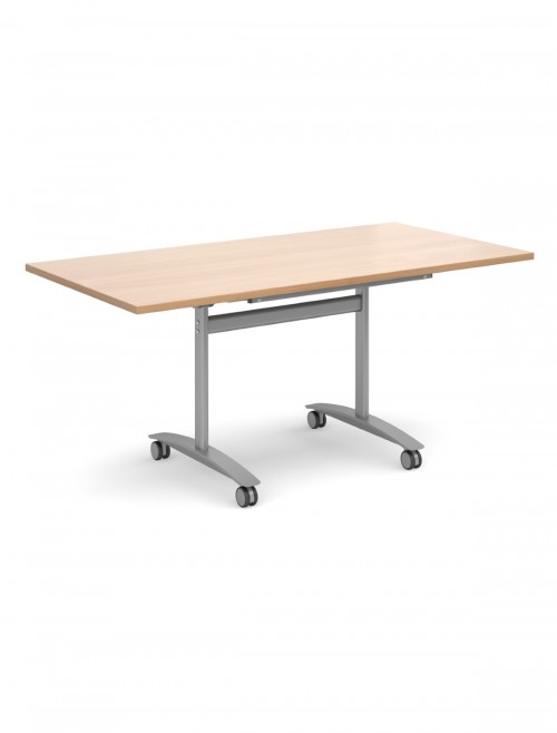 Beech Table - Deluxe Flip Top Meeting Table 1600mm DFLP16-S-B
